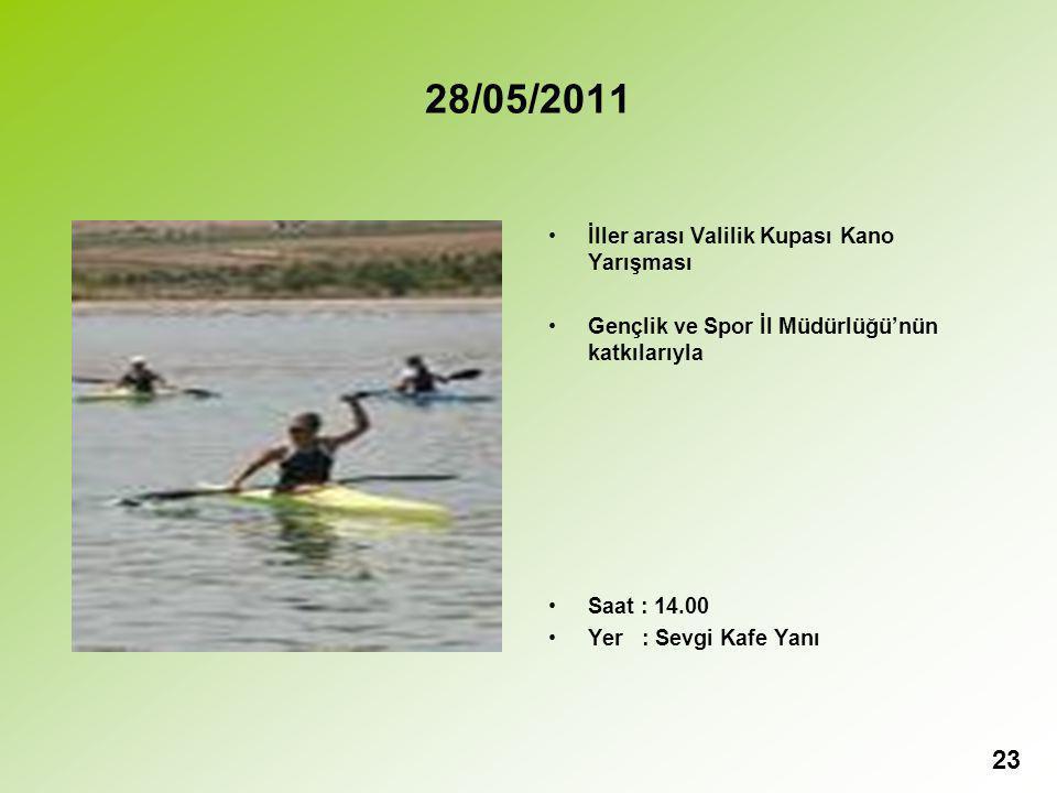 28/05/2011 İller arası Valilik Kupası Kano Yarışması