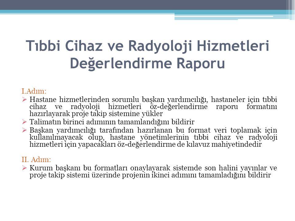 Tıbbi Cihaz ve Radyoloji Hizmetleri Değerlendirme Raporu