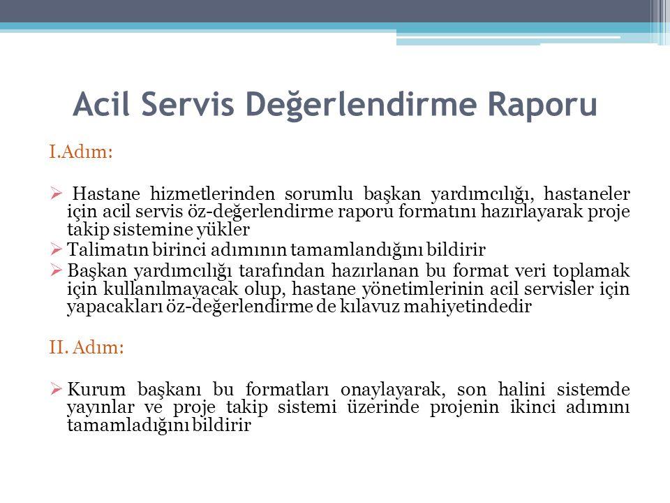 Acil Servis Değerlendirme Raporu