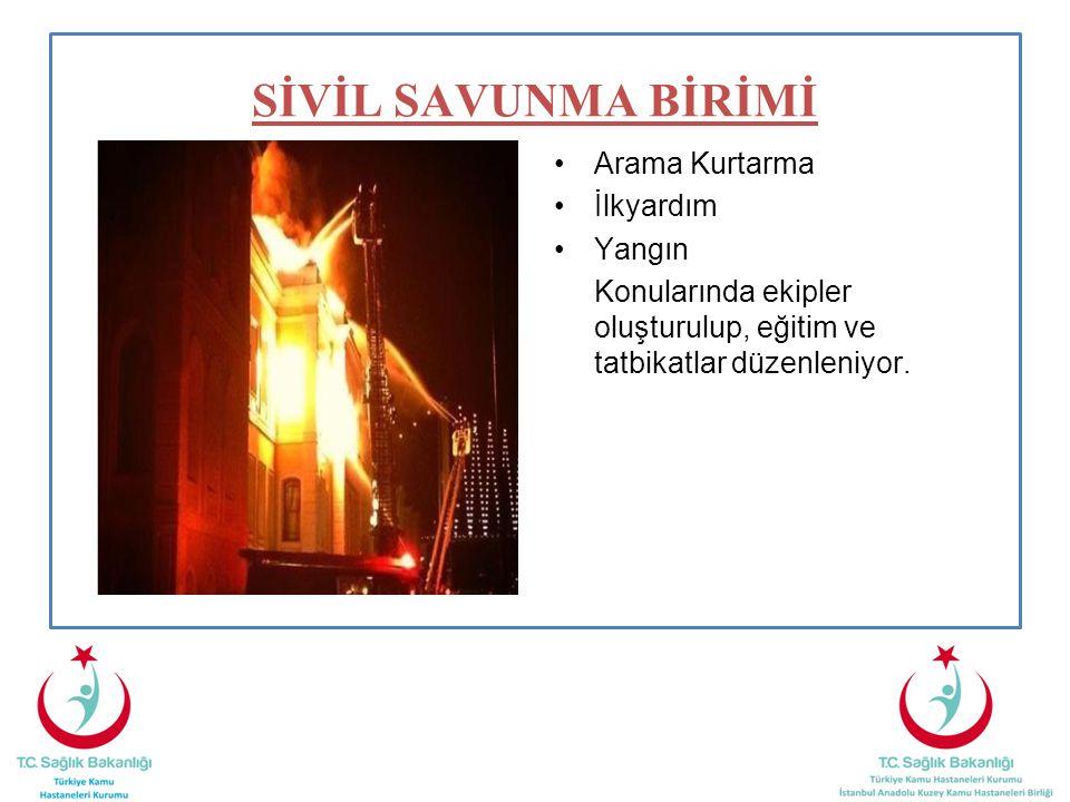 SİVİL SAVUNMA BİRİMİ Arama Kurtarma İlkyardım Yangın