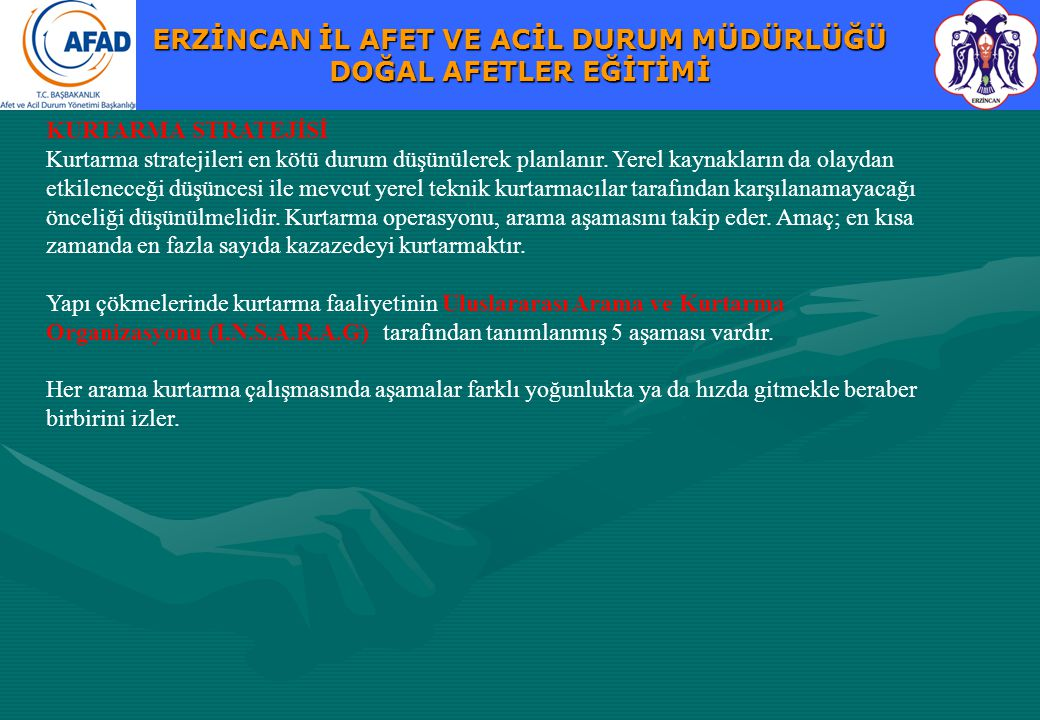 KURTARMA STRATEJİSİ