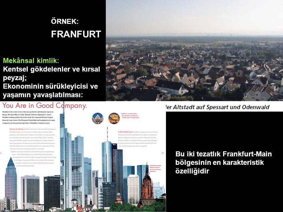 FRANFURT ÖRNEK: Mekânsal kimlik: Kentsel gökdelenler ve kırsal peyzaj;