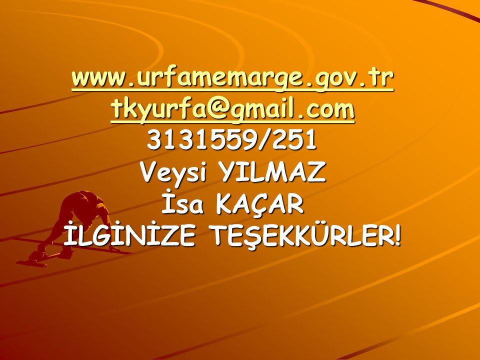 www. urfamemarge. gov. tr tkyurfa@gmail