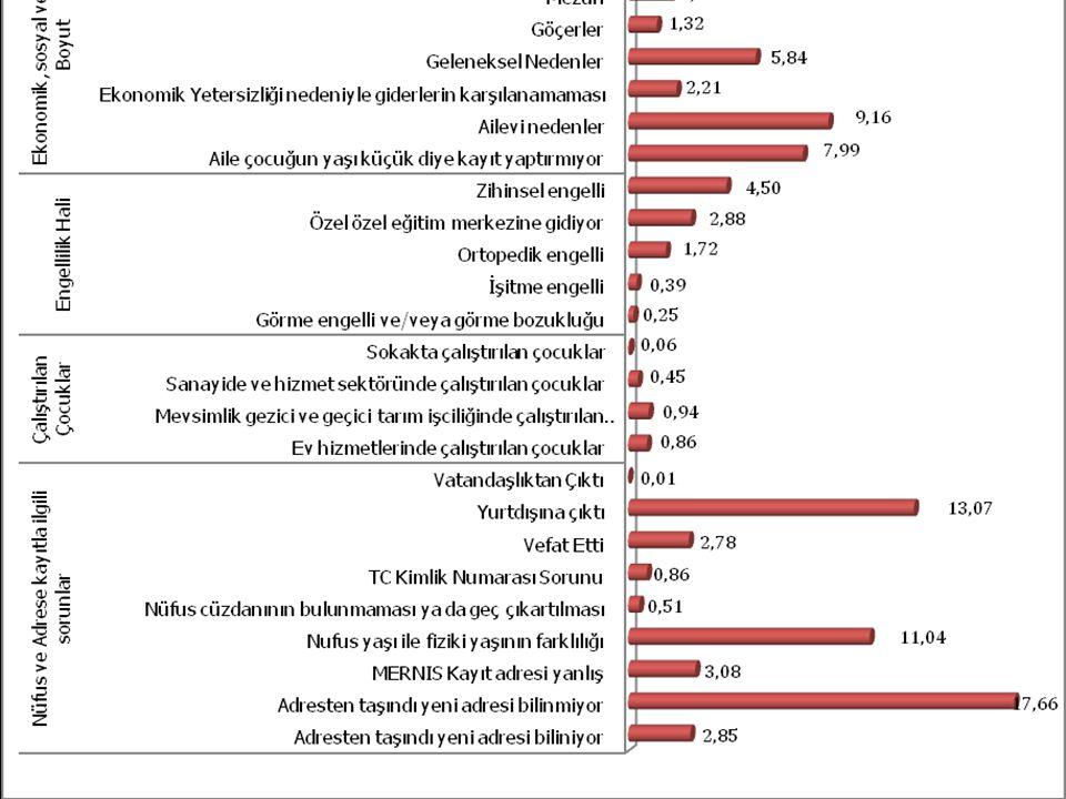 Grafik 4. Zorunlu Eğitim Çağında Olup Okula Kayıtsız Çocukların Kaydolmama Nedenleri (Mayıs 2009)