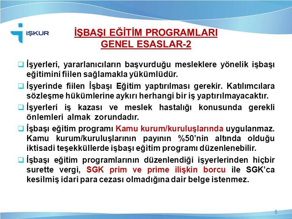 İŞBAŞI EĞİTİM PROGRAMLARI GENEL ESASLAR-2