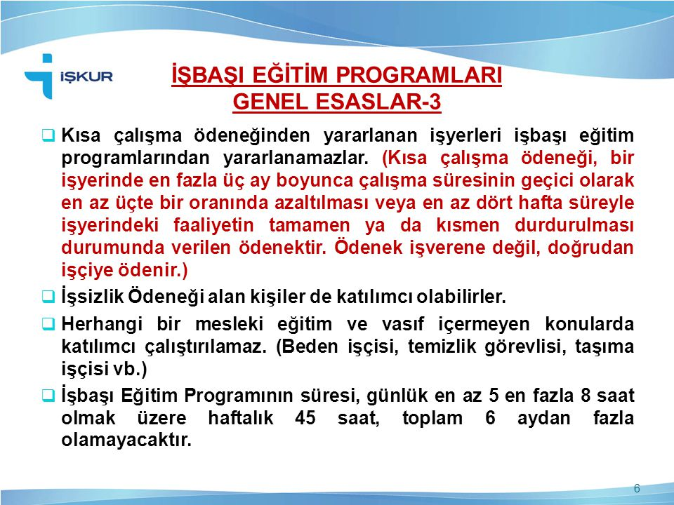 İŞBAŞI EĞİTİM PROGRAMLARI GENEL ESASLAR-3