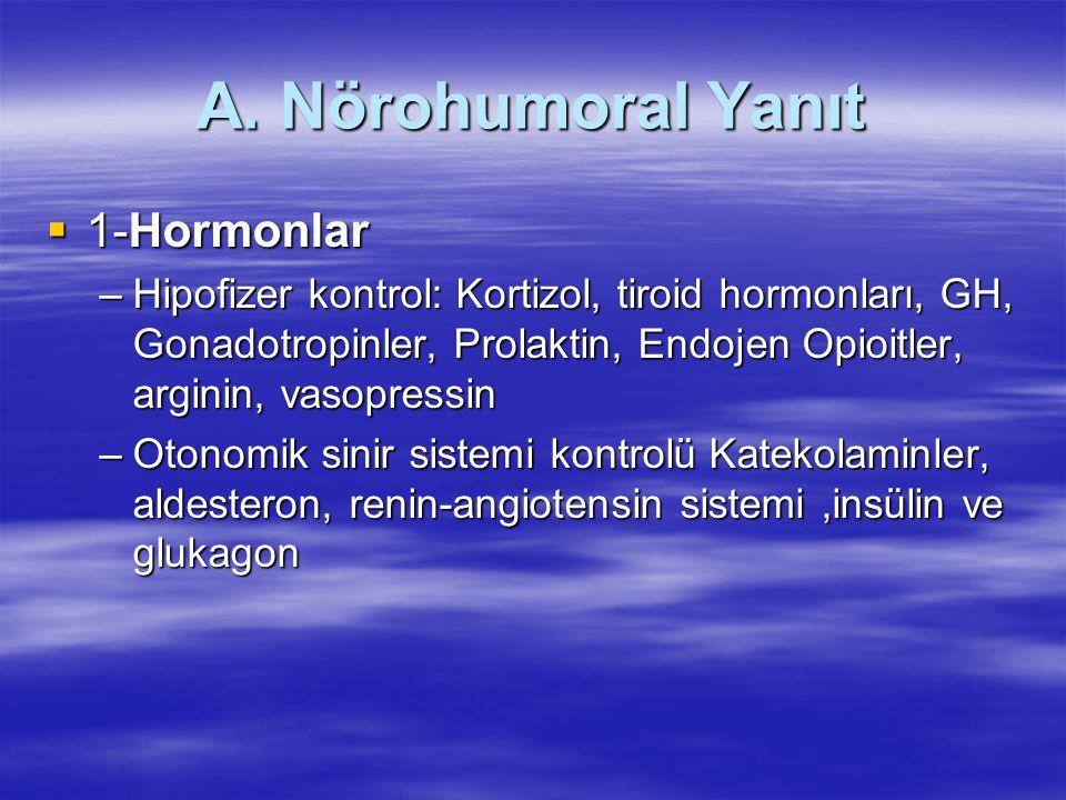 A. Nörohumoral Yanıt 1-Hormonlar