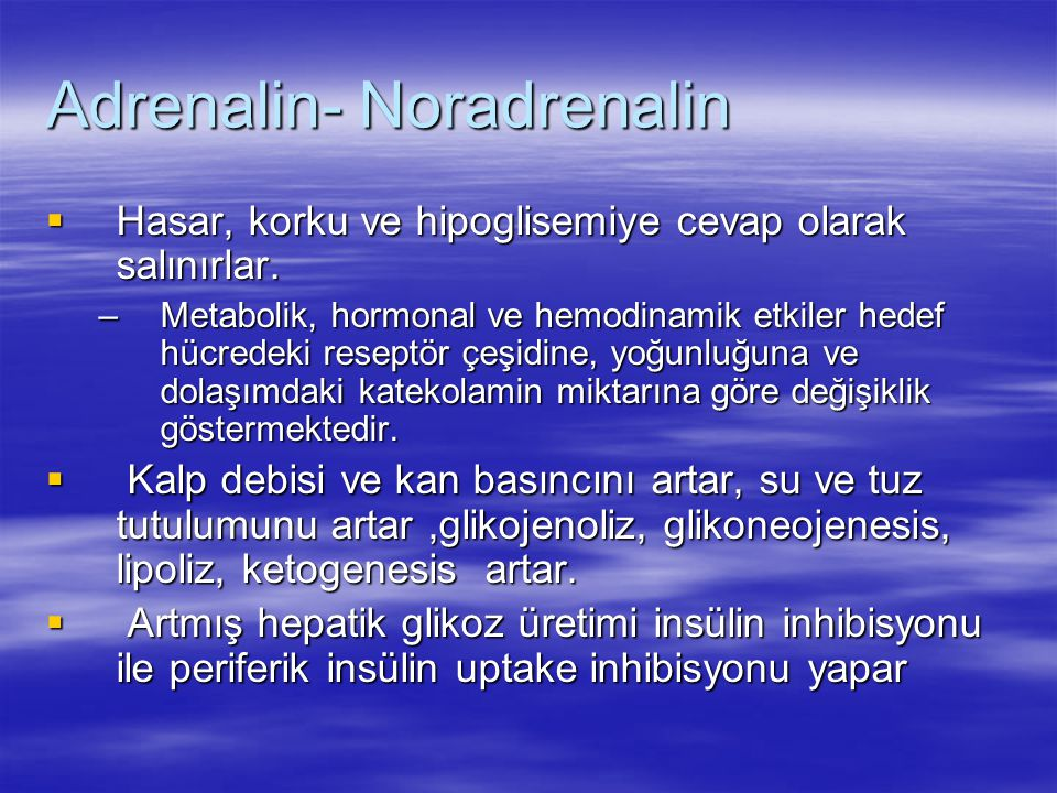 Adrenalin- Noradrenalin