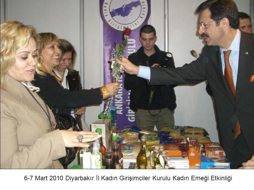 6-7 Mart 2010 Diyarbakır İl Kadın Girişimciler Kurulu Kadın Emeği Etkinliği