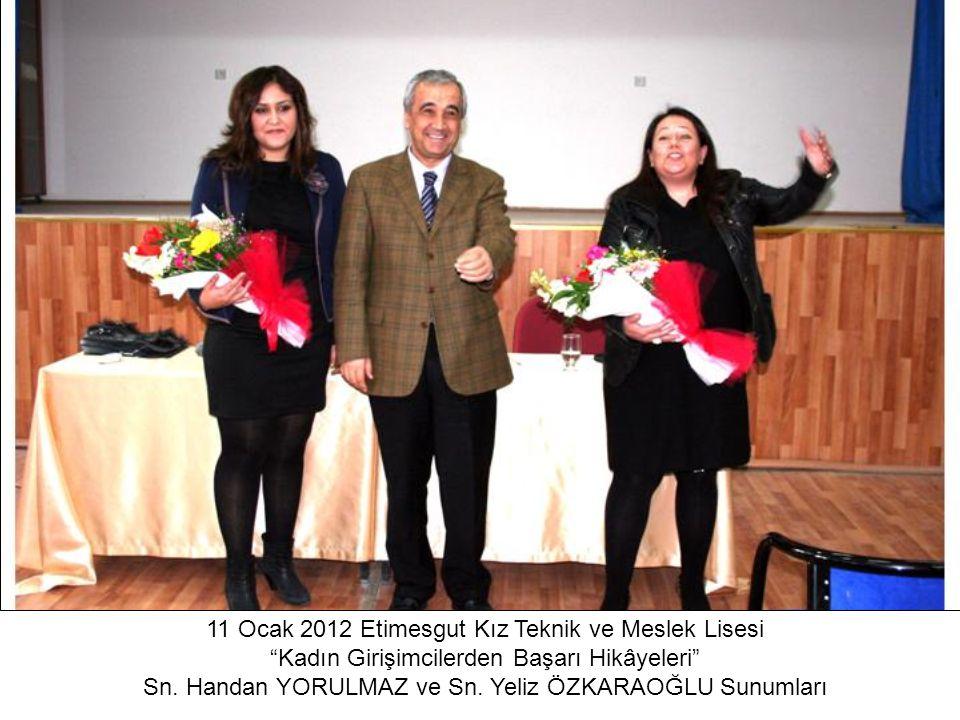 11 Ocak 2012 Etimesgut Kız Teknik ve Meslek Lisesi