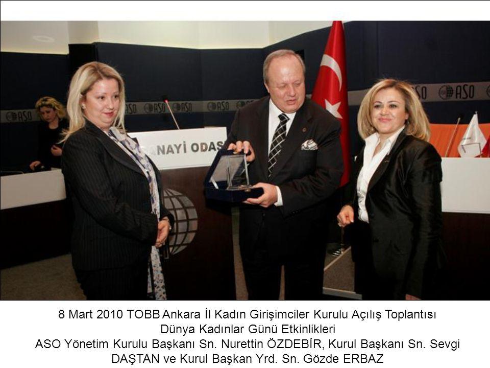 8 Mart 2010 TOBB Ankara İl Kadın Girişimciler Kurulu Açılış Toplantısı