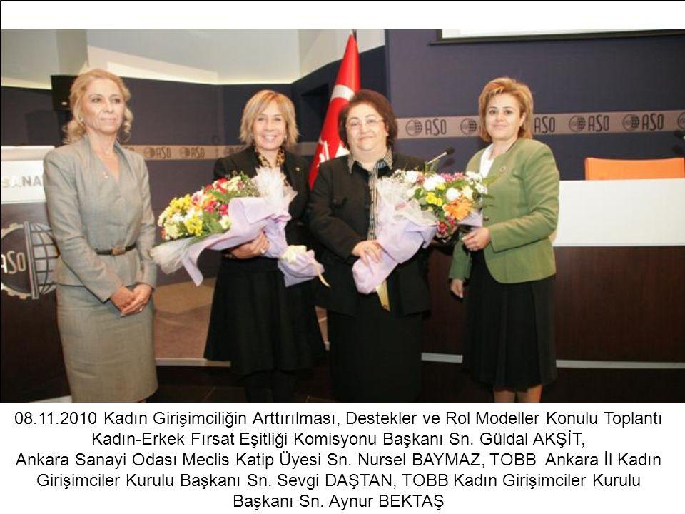 08.11.2010 Kadın Girişimciliğin Arttırılması, Destekler ve Rol Modeller Konulu Toplantı Kadın-Erkek Fırsat Eşitliği Komisyonu Başkanı Sn. Güldal AKŞİT,