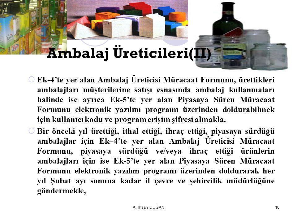 Ambalaj Üreticileri(II)