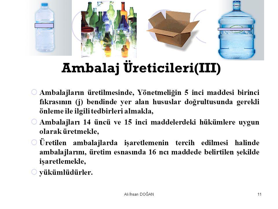 Ambalaj Üreticileri(III)