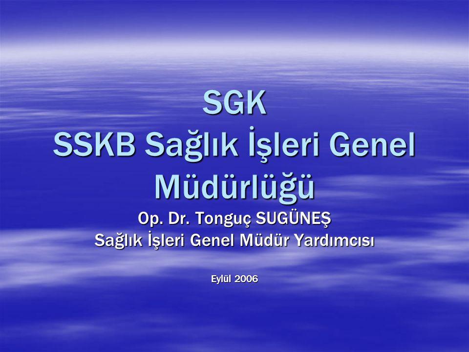 SGK SSKB Sağlık İşleri Genel Müdürlüğü