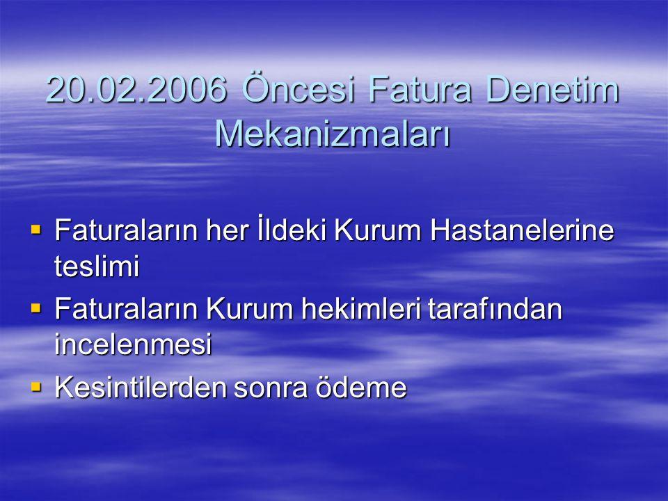 20.02.2006 Öncesi Fatura Denetim Mekanizmaları