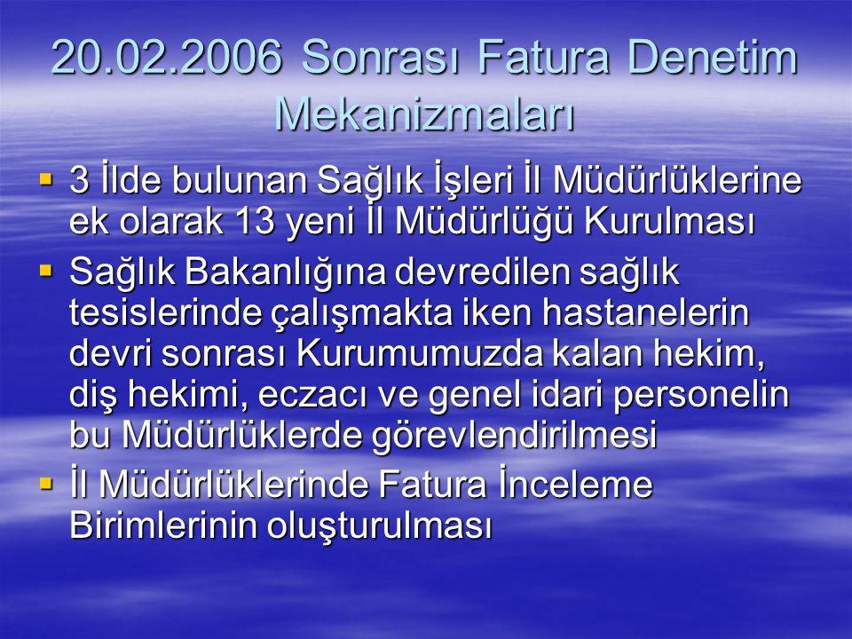 20.02.2006 Sonrası Fatura Denetim Mekanizmaları