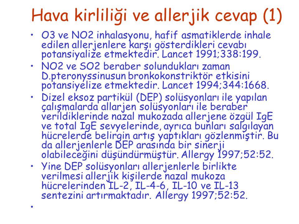 Hava kirliliği ve allerjik cevap (1)