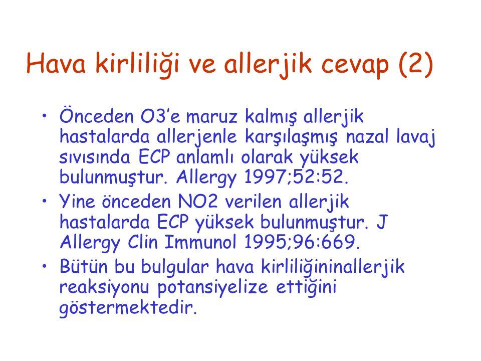Hava kirliliği ve allerjik cevap (2)