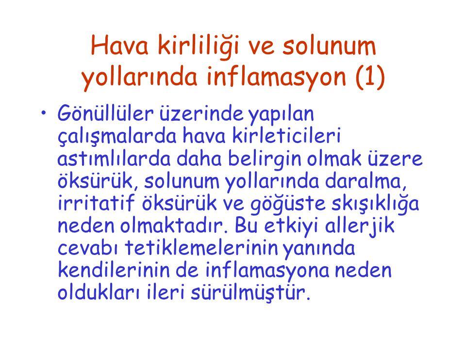 Hava kirliliği ve solunum yollarında inflamasyon (1)