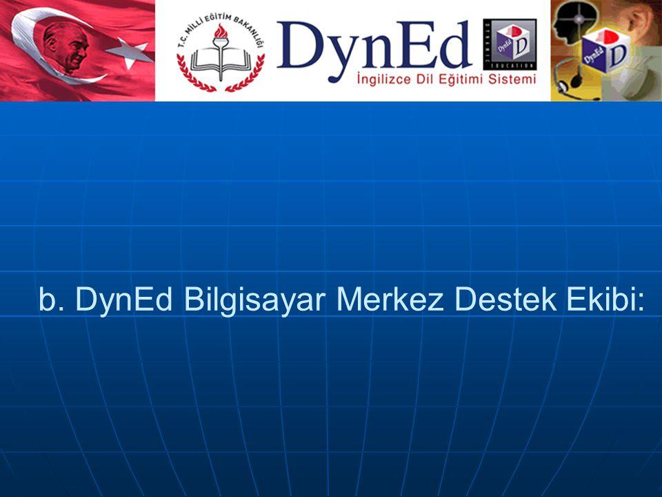 a. DynEd İngilizce Merkez Destek Ekibi: