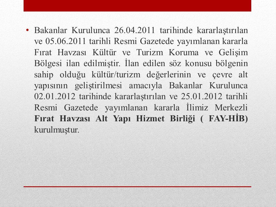 Bakanlar Kurulunca 26. 04. 2011 tarihinde kararlaştırılan ve 05. 06