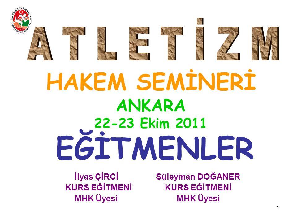 HAKEM SEMİNERİ ANKARA 22-23 Ekim 2011