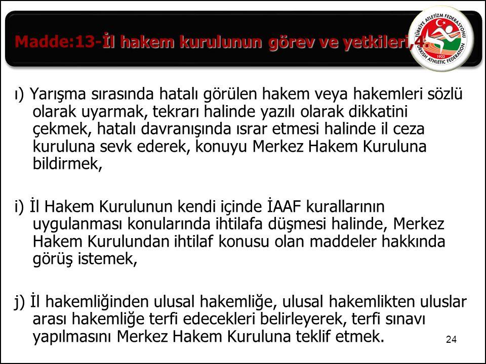 Madde:13-İl hakem kurulunun görev ve yetkileri,4.