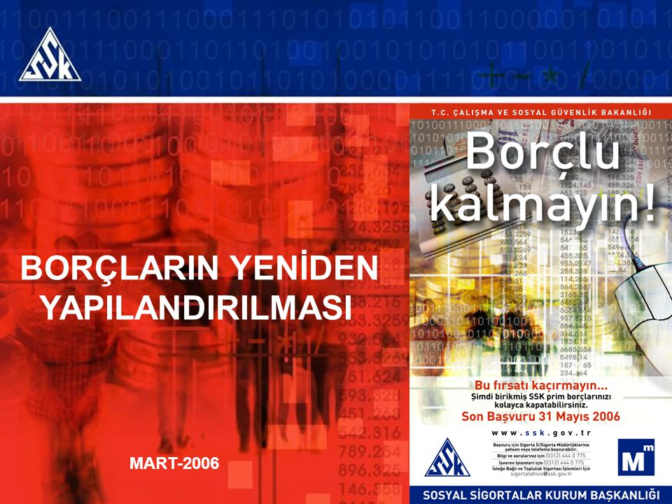 BORÇLARIN YENİDEN YAPILANDIRILMASI MART-2006