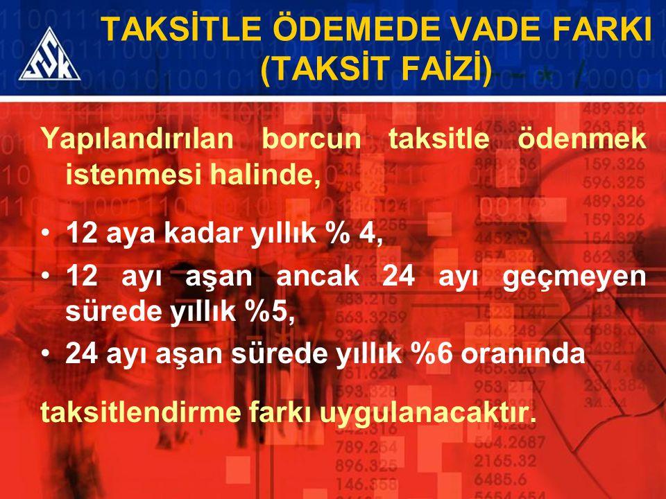 TAKSİTLE ÖDEMEDE VADE FARKI (TAKSİT FAİZİ)