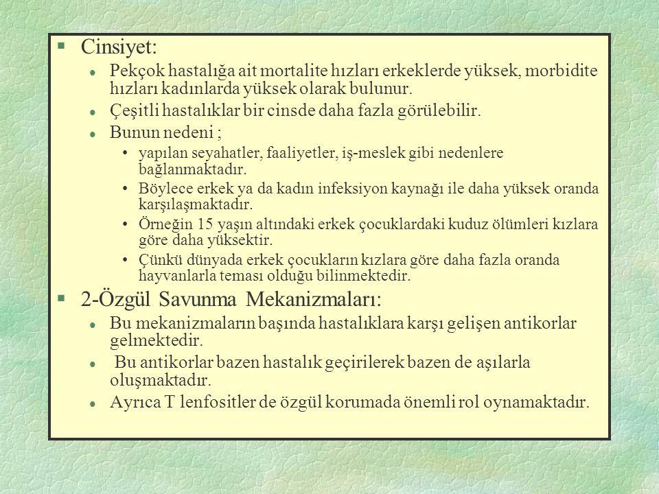 2-Özgül Savunma Mekanizmaları: