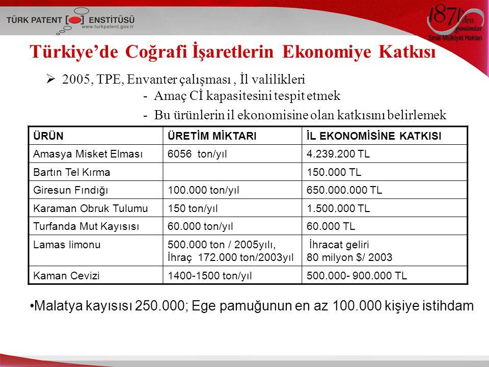 Türkiye'de Coğrafi İşaretlerin Ekonomiye Katkısı