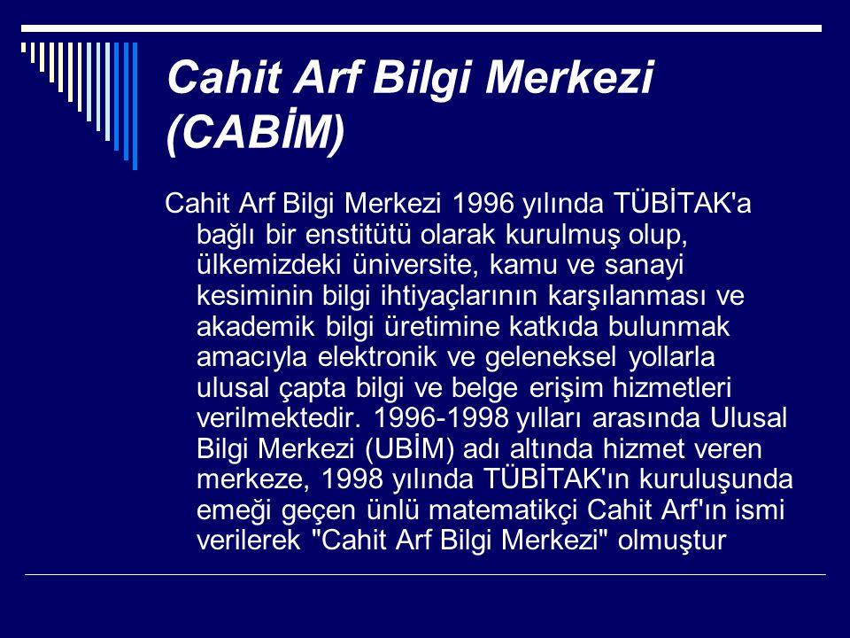 Cahit Arf Bilgi Merkezi (CABİM)