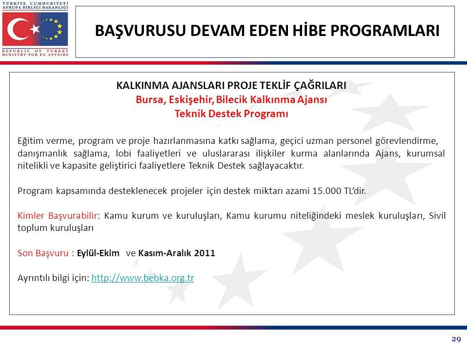 Bursa, Eskişehir, Bilecik Kalkınma Ajansı Teknik Destek Programı