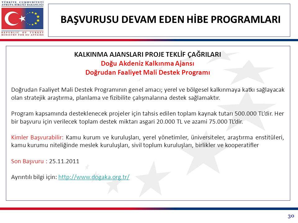 Doğu Akdeniz Kalkınma Ajansı Doğrudan Faaliyet Mali Destek Programı
