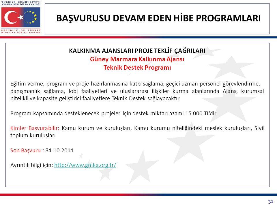 Güney Marmara Kalkınma Ajansı Teknik Destek Programı