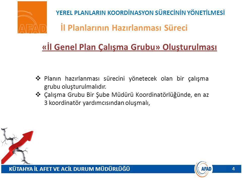 «İl Genel Plan Çalışma Grubu» Oluşturulması