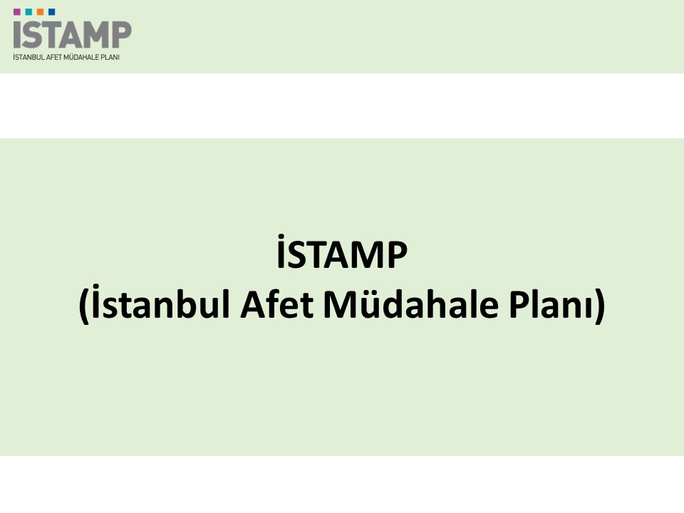 İSTAMP (İstanbul Afet Müdahale Planı)