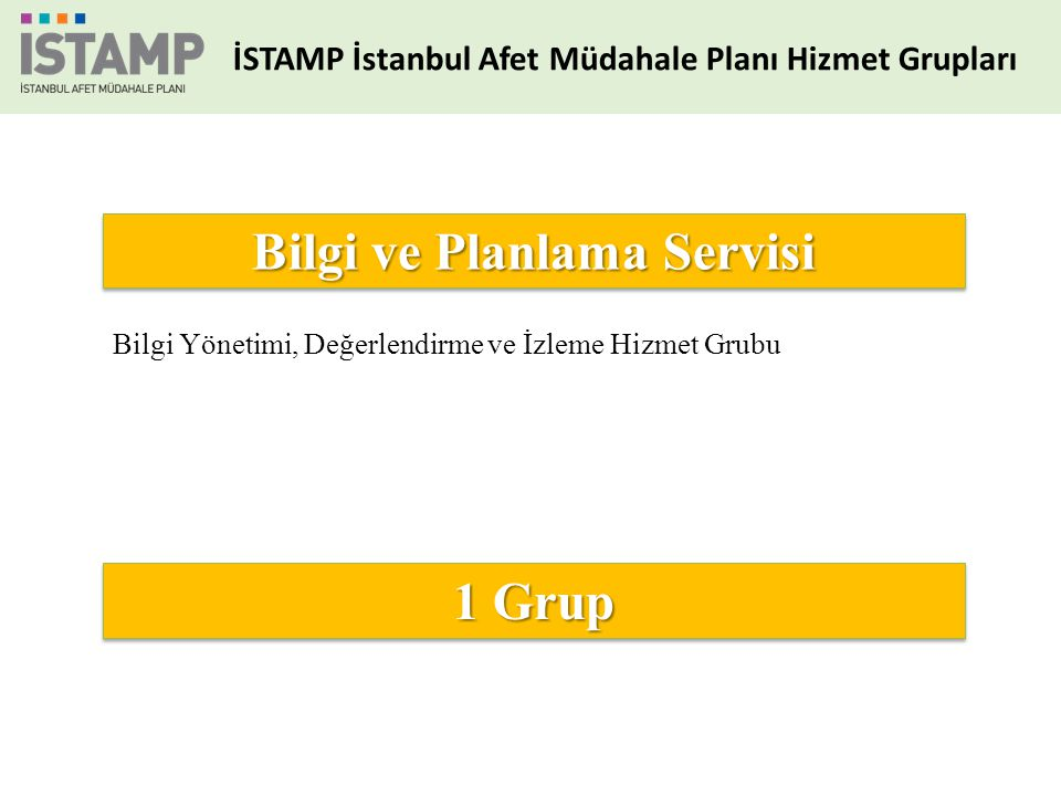Bilgi ve Planlama Servisi 1 Grup