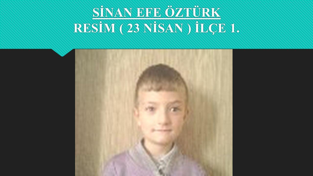 SİNAN EFE ÖZTÜRK RESİM ( 23 NİSAN ) İLÇE 1.