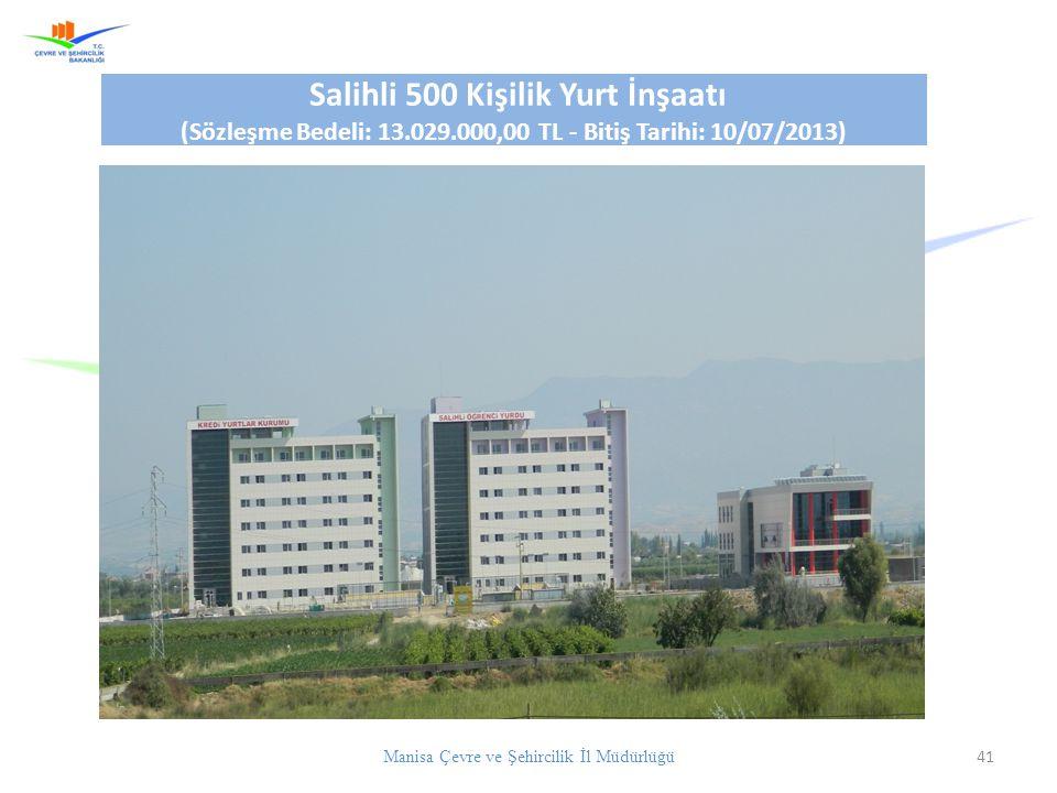 (Sözleşme Bedeli: 13.029.000,00 TL - Bitiş Tarihi: 10/07/2013)