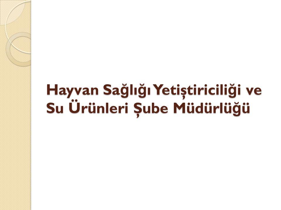 Hayvan Sağlığı Yetiştiriciliği ve Su Ürünleri Şube Müdürlüğü