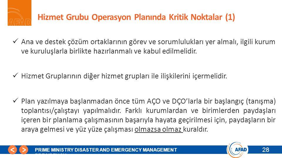 Hizmet Grubu Operasyon Planında Kritik Noktalar (1)