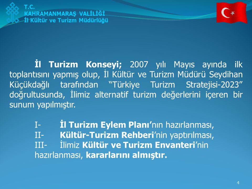 I- İl Turizm Eylem Planı'nın hazırlanması,