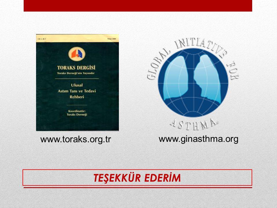 TEŞEKKÜR EDERİM www.toraks.org.tr www.ginasthma.org