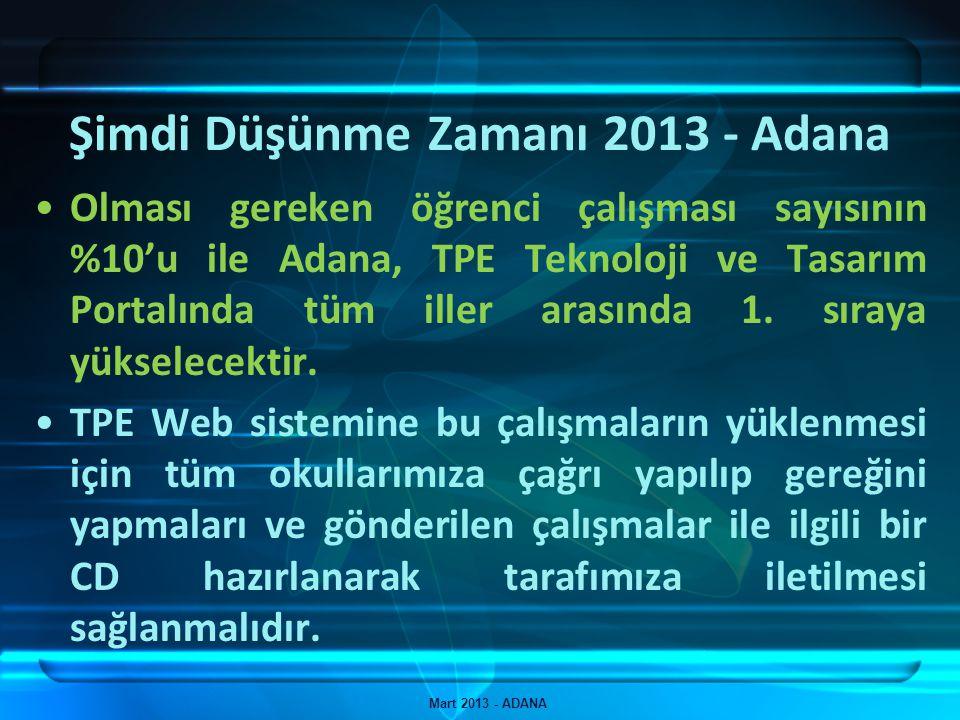Şimdi Düşünme Zamanı 2013 - Adana