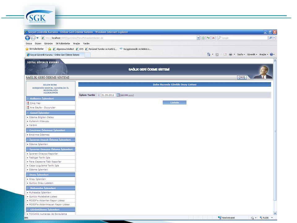 Sosyal ve Kurumsal Sigorta Yazılımları Daire Başkanlığı @ Mayıs 2012