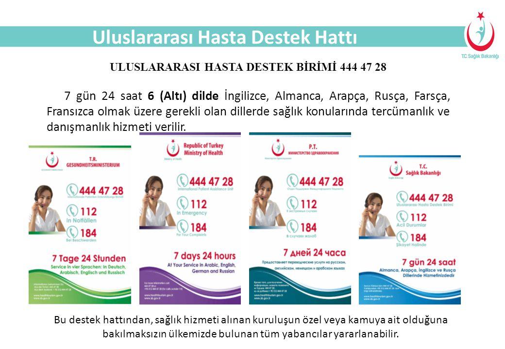 ULUSLARARASI HASTA DESTEK BİRİMİ 444 47 28