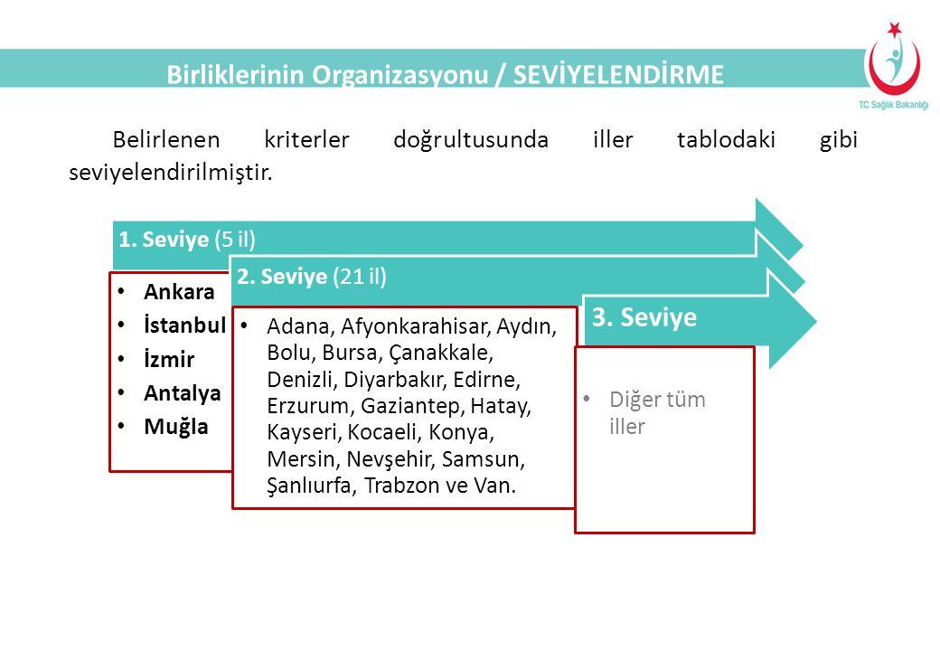 Birliklerinin Organizasyonu / SEVİYELENDİRME