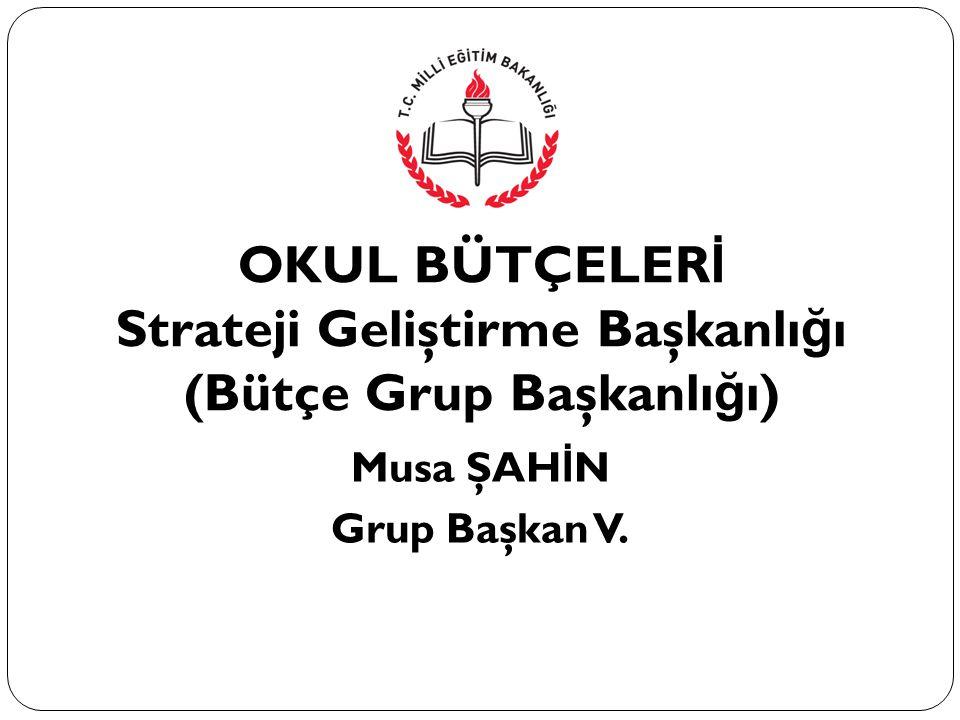 Strateji Geliştirme Başkanlığı (Bütçe Grup Başkanlığı)